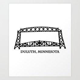 Duluth, MN Aerial Lift Bridge Art Print