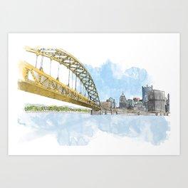 Fort Pitt Bridge Art Print
