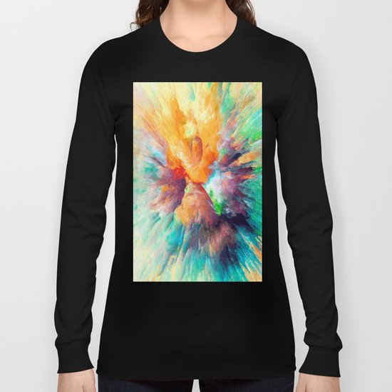 Multi color abstarct #society6 Long Sleeve T-shirt
