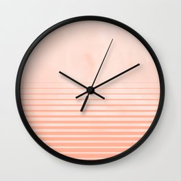 Sweet Life Peach Coral Gradient Wall Clock
