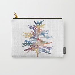 Fir Tree Acrylic Painting Carry-All Pouch