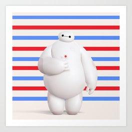 Baymax Big Hero 6 Art Print