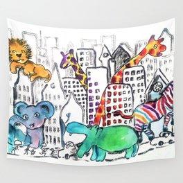 Urban Jungle Wall Tapestry
