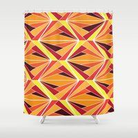 mosaic Shower Curtains featuring mosaic by kartalpaf