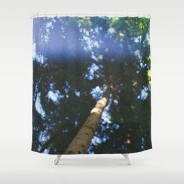 pinetree bokeh Shower Curtain