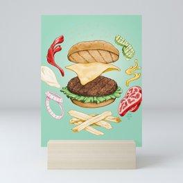 Burger Mandala Mini Art Print