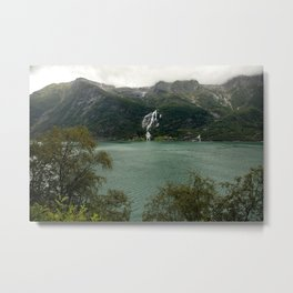 Waterfall and a lake in Norway   | nature photo | fine art photo print | travel photography Metal Print