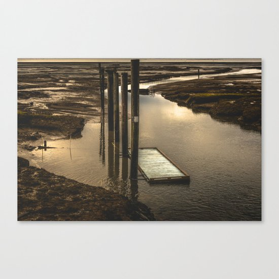 Washington Boat Launch Dock Canvas Print