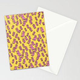 Rockwell Birds - Pink Glow Stationery Cards