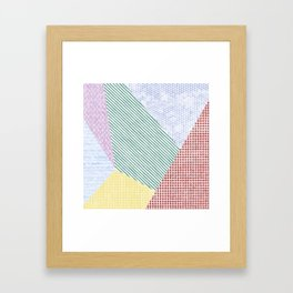 Chalk Patterns Framed Art Print