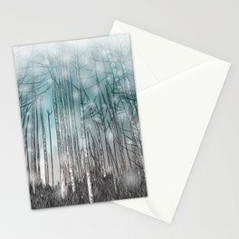 Snowy Forest Scene Stationery Cards