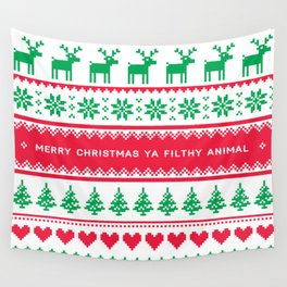Merry Christmas Ya Filthy Animal Wall Tapestry