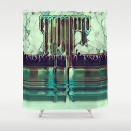 Escape into the Music. Shower Curtain