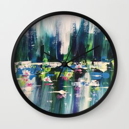 Lilly Pond Wall Clock