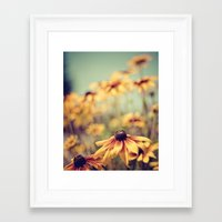 sunshine Framed Art Prints featuring sunshine by shannonblue