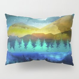 Silent Forest Night Pillow Sham
