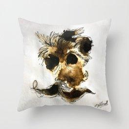 Espresso Nietzsche Throw Pillow