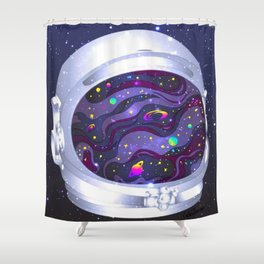 Astronauts Helmet Shower Curtain