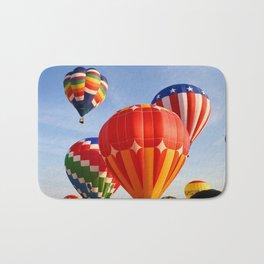 Vibrant Hot Air Balloons Bath Mat