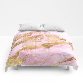 Rose Gold Mermaid Marble Comforters