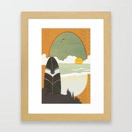Evening surf Framed Art Print
