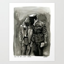 once you had a best friend Art Print
