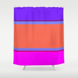 Re-Created Playing Field XXXII by Robert S. Lee Shower Curtain