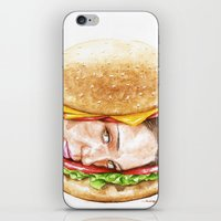 burger iPhone & iPod Skins featuring Burger by Creadoorm