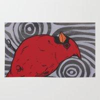 cardinal Area & Throw Rugs featuring Cardinal by turddemon