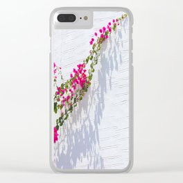 Bougainvillea Branch Clear iPhone Case