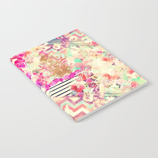 Flowers Mix Vintage Patchwork Notebook