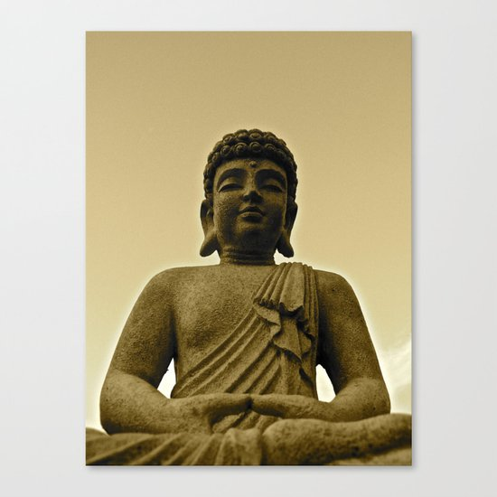Buddha Prays Canvas Print