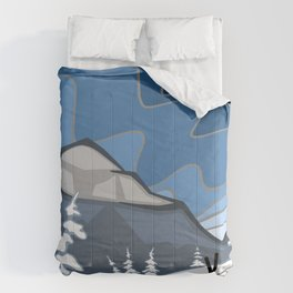 Darkening Winter Skies | Ski Winter Snowy Landscape | DopeyArt  Comforters