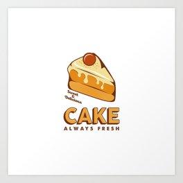 Cakes Cake Signage Poster Retro Rustic Art Print