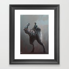 Creature rider Framed Art Print