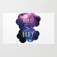 okay Area & Throw Rugs featuring Okay? Okay. by Call me Calliope