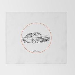 Crazy Car Art 0220 Throw Blanket