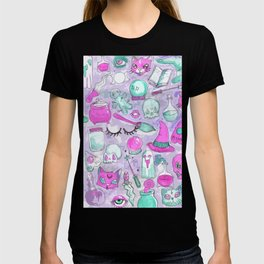 witchy pattern T-shirt