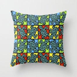 Pop Turtles Throw Pillow
