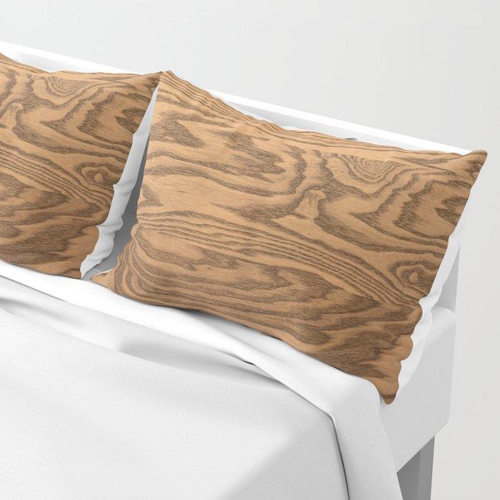 Wood, heavily grained wood grain Pillow Sham