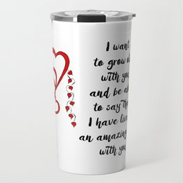 Chained Heart for valentines day Travel Mug