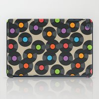 records iPad Cases featuring Vinyl Records by PatternInk