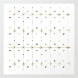 Jazzy Okami Pattern Art Print