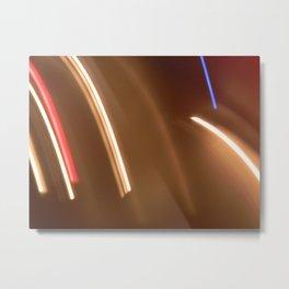 Light lines. Metal Print