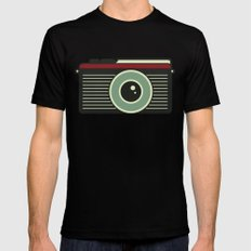 Retro Camera Mens Fitted Tee Black X-LARGE