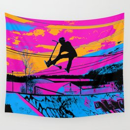 Lets Fly!  - Stunt Scooter Wall Tapestry