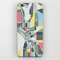 seattle iPhone & iPod Skins featuring Seattle. by Studio Tesouro