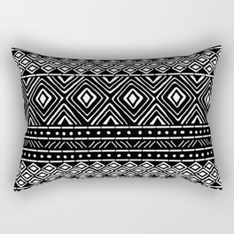 African Mud Cloth // Black Rectangular Pillow