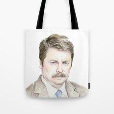 Swanson Watercolor Ron Tote Bag