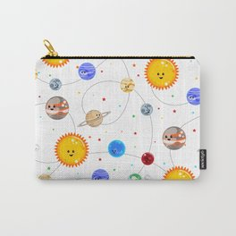 Kawaii Solar System Pattern Carry-All Pouch